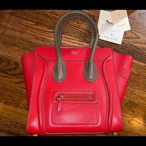 Vibrent RED Celine Micro Luggage Handbag